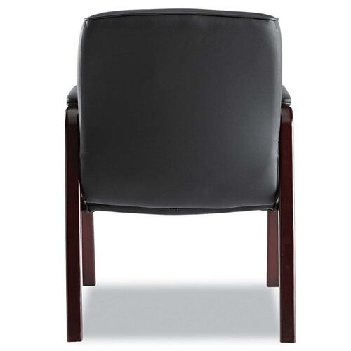Our Alera® Madaris Series Leather Guest Chair w/Wood Trim - Four Legs - Black/Mahogany is on sale now.