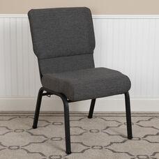 Advantage 20.5 in. Black Marble Molded Foam Church Chair