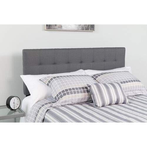 Our Bedford Tufted Upholstered Queen Size Headboard in Dark Gray Fabric is on sale now.