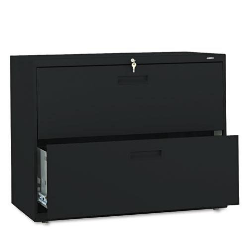 Our HON® 500 Series Two-Drawer Lateral File - 36w x 19-1/4d x 28-3/8h - Black is on sale now.