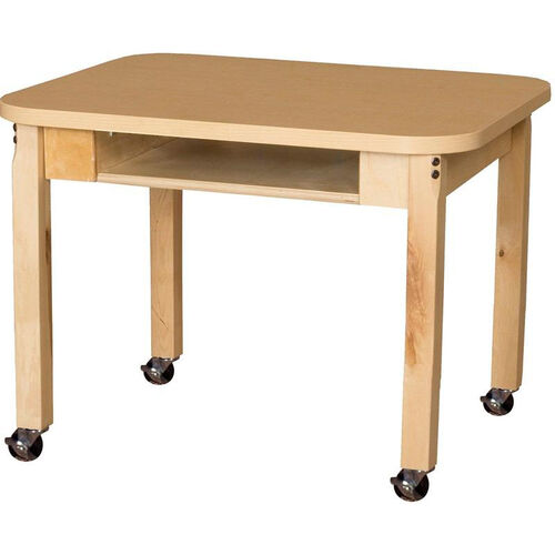 Our Mobile Classroom High Pressure Laminate Desk with Hardwood Legs - 24