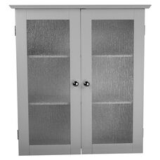 Connor Wall Cabinet with Two Glass Doors - White