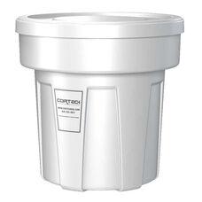 25 Gallon Cobra Food Grade/General Use Trash Can - White