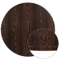"36"" Round Rustic Wood Laminate Table Top"
