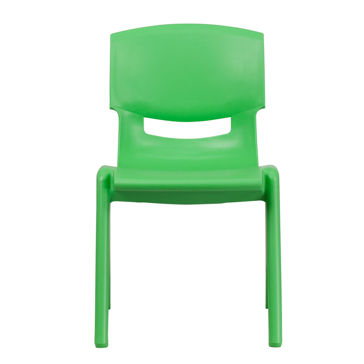 Green Plastic Stackable School Chair With 15.5'' Seat
