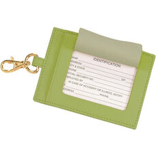 Luxury Big Luggage Tag - Top Grain Nappa Leather - Key Lime Green