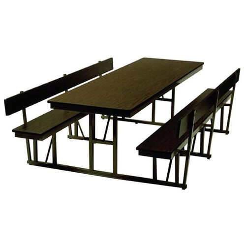 Our Customizable Standard Lunchroom Table with Back Support and Built in Benches - 30