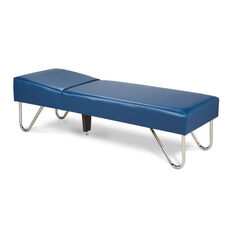 24''W Vinyl Chrome Leg Recovery Couch - 250 lbs Capacity