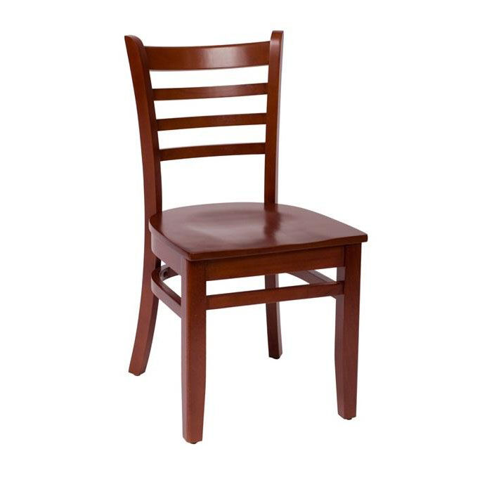 ... Our Burlington Mahogany Wood Ladder Back Chair   Wood Seat Is On Sale  Now.