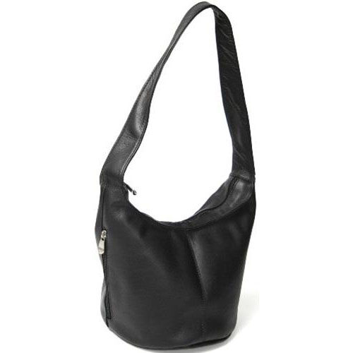 Our Hobo Bag with Side Zip Pocket - Colombian Vaquetta Leather - Black is on sale now.