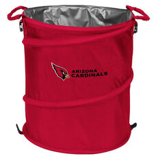 Arizona Cardinals Team Logo Collapsible 3-in-1 Cooler Hamper Wastebasket