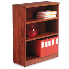 Alera® Valencia Series Bookcase - Three-Shelf - 31 3/4w x 14d x 39 3/8h - Medium Cherry