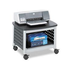 Safco® Scoot Printer Stand - 20-1/4w x 16-1/2d x 14-1/2h - Black/Silver