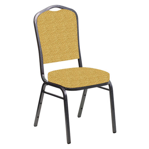 Our Crown Back Banquet Chair in Lancaster Khaki Fabric - Silver Vein Frame is on sale now.