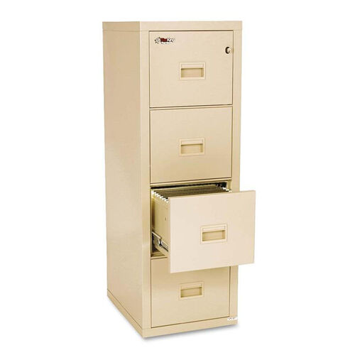 Our FireKing® Turtle Four-Drawer File - 17 3/4w x 22 1/8d - UL Listed 350° for Fire - Parchment is on sale now.