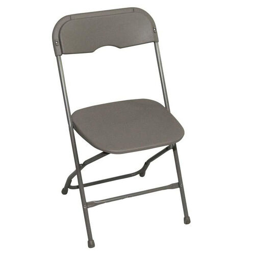 Our Champ Series Versatile Resin Wedding Folding Chair with Foot Caps - Light Grey is on sale now.