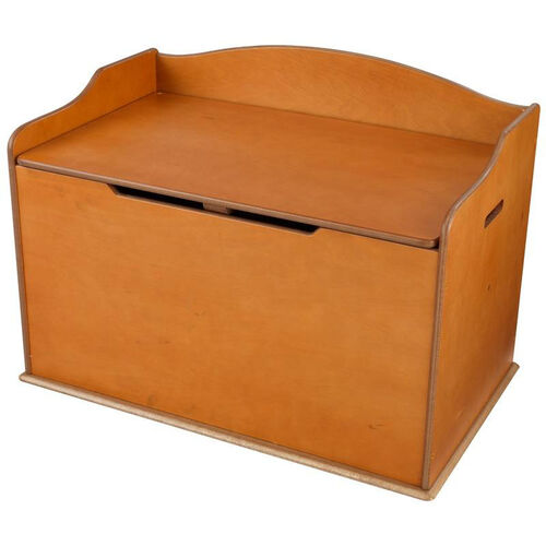Austin Wooden Spacious Toy Box with Bench Seating Flip-top Lid - Honey