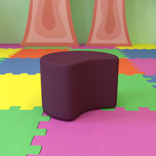 """Soft Seating Collaborative Moon for Classrooms and Daycares - 12"""" Seat Height (Purple)"""