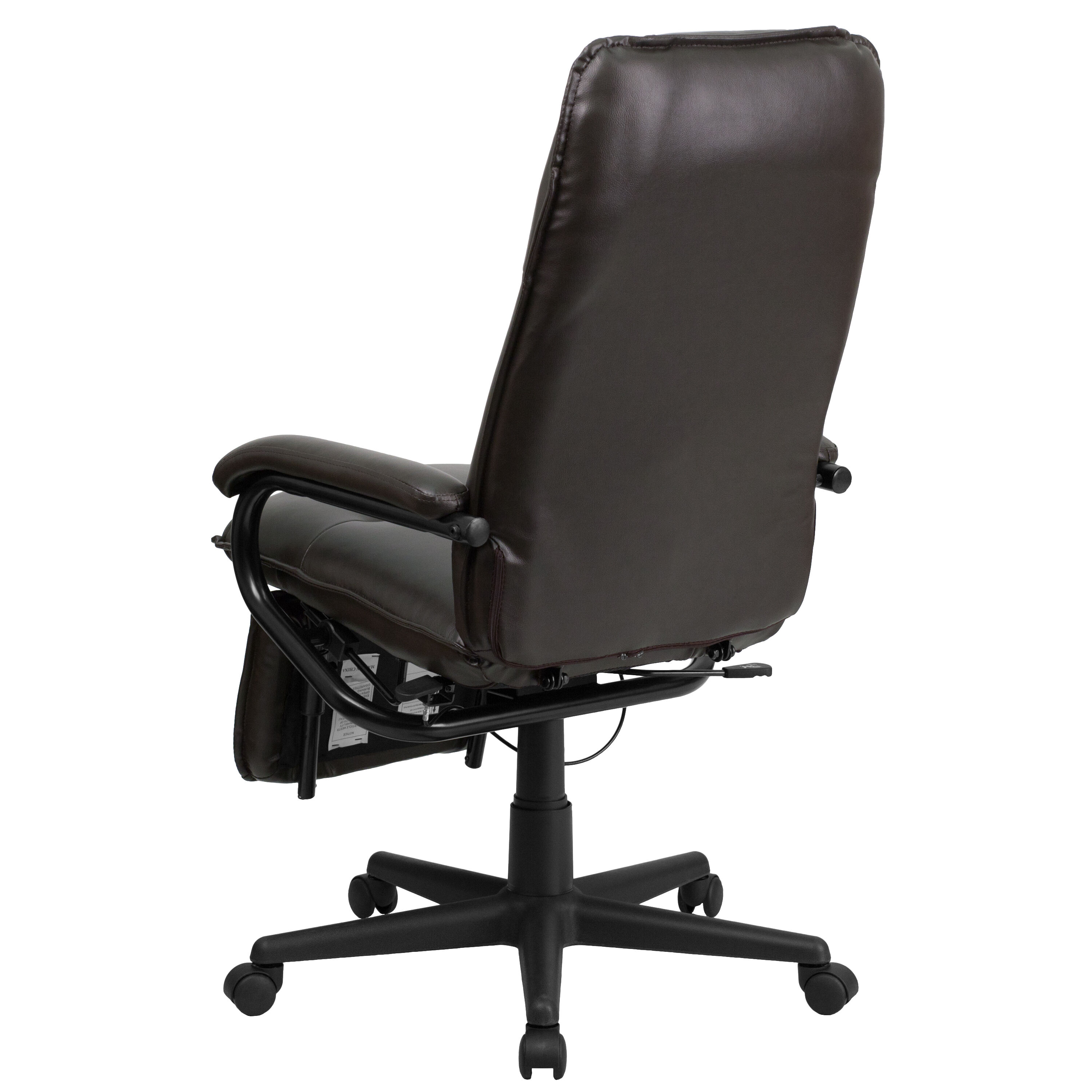Our High Back Brown Leather Executive Reclining Swivel Chair With Arms Is  On Sale Now.