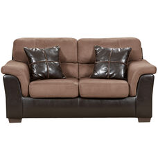 Exceptional Designs by Flash Laredo Chocolate Microfiber Loveseat