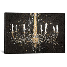 Grand Chandelier Black I by James Wiens Gallery Wrapped Canvas Artwork