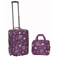Rockland 2 Pc. Luggage Set - Purple Pearl