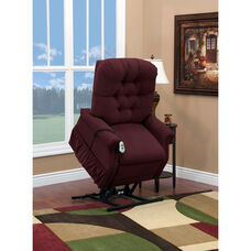 Two Way Petite Reclining Power Lift Chair with Matching Arm and Headrest Covers - Aaron Berry Fabric