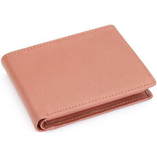 RFID Blocking Euro Commuter Wallet - Top Grain Nappa Leather - Tan