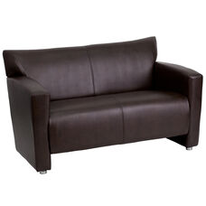 HERCULES Majesty Series Brown LeatherSoft Loveseat