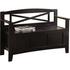OSP Designs Metro Mission Style Entry Way Bench - Black