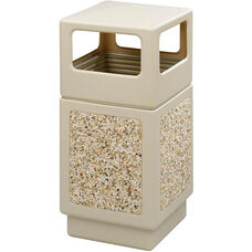 Canmeleon™ 38 Gallon Indoor or Outdoor Aggregate Panel Side Open - Tan