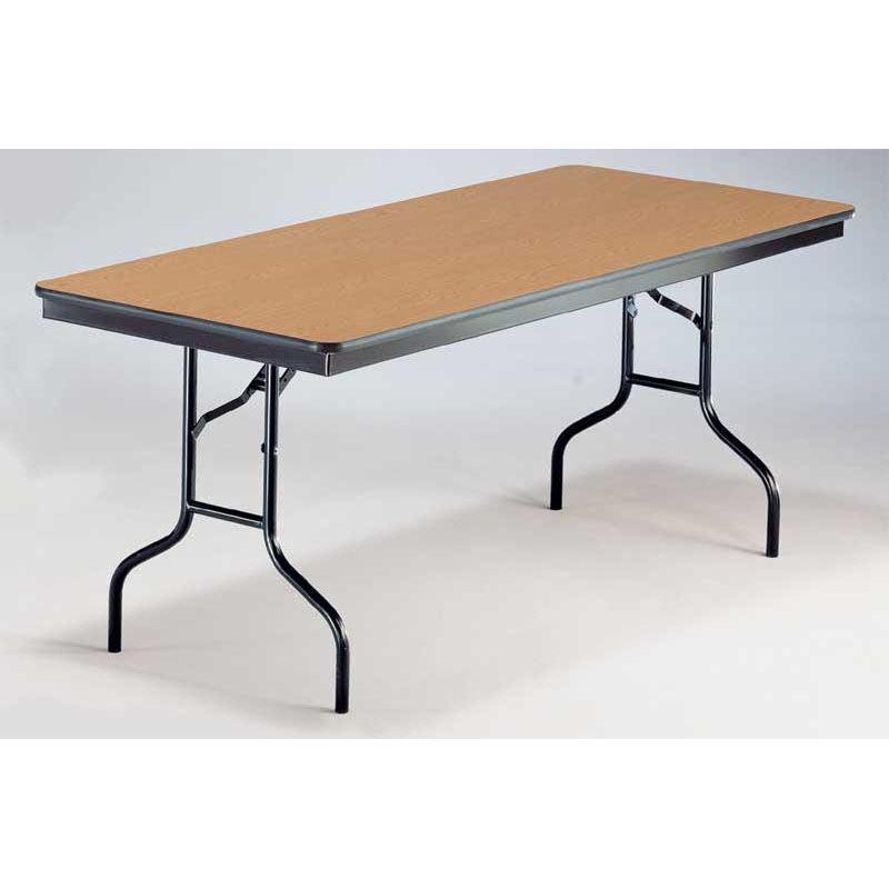 Beautiful ... Our EF Series Long Rectangular Plywood Core Folding Table   30u0027u0027W X 96