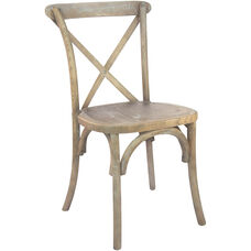 Advantage Medium Natural With White Grain X-Back Chair