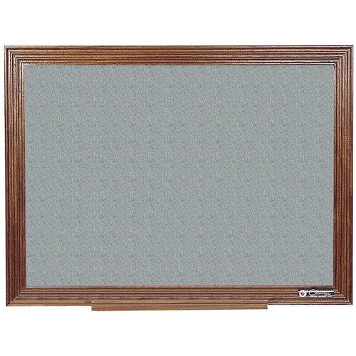 Our 114 Series Wood Frame Tackboard - Claridge Cork - 48