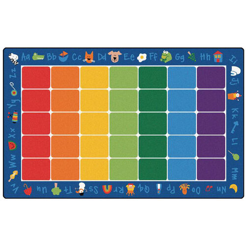 Fun With Phonics Rectangular Nylon Rug - 90