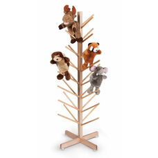 Maple Puppet Tree with Thirty Two Puppet Storage Branches