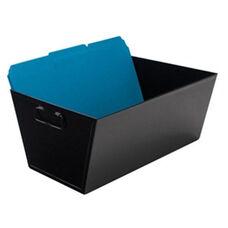 Advantus Open Top Steel Legal Size File Desktop Storage Bins with Handles - Black