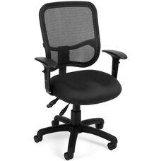 Mesh Comfort Ergonomic Task Chair with Arms - Black