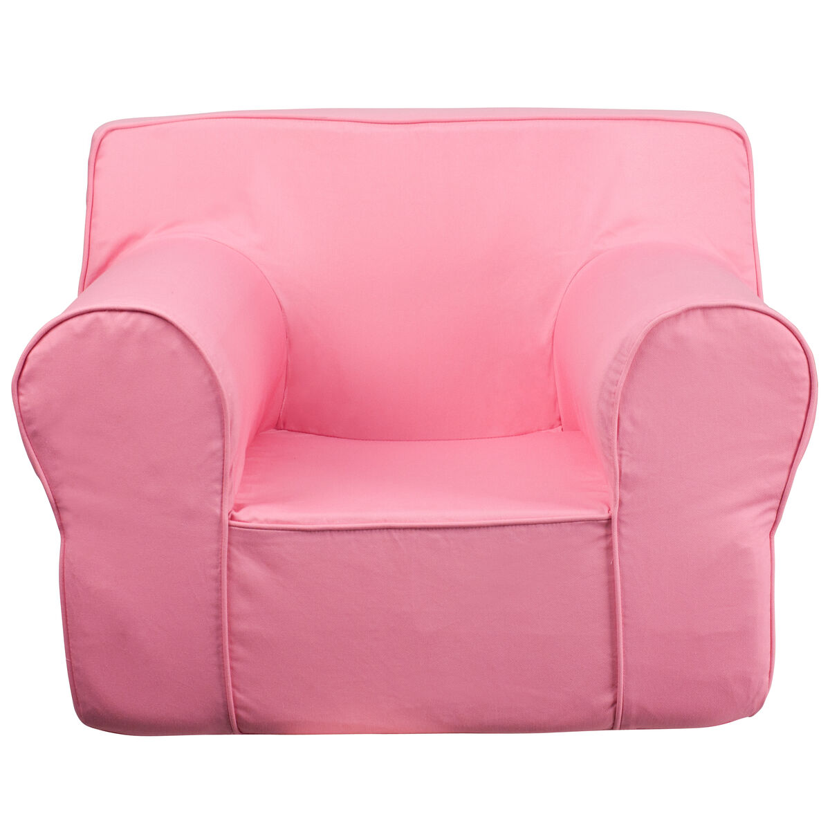 Flash furniture oversized solid light pink kids chair dg for Oversized kids chair