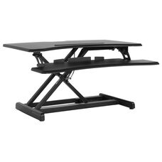 "HERCULES Series 30.25""W Black Sit / Stand Height Adjustable Ergonomic Desk with Height Lock Feature"