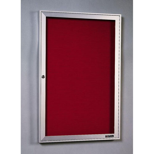 440 Series Aluminum Frame Directory Cabinet with 1 Locking Tempered Glass Door - 18