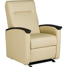 Harmony Glider with Closed Arms - Vinyl Upholstery