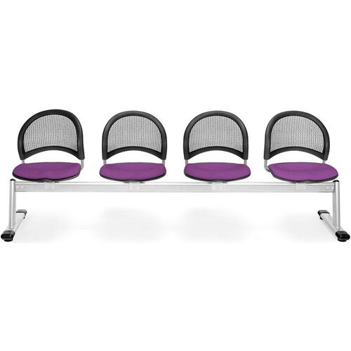 Our Moon 4-Beam Seating with 4 Fabric Seats - Plum is on sale now.