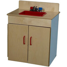 Blueberry Pretend Play Healthy Kids Plywood Classic Sink - Assembled - 20