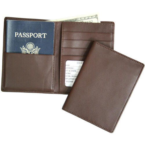 Our RFID Blocking Passport Currency Wallet - Top Grain Nappa Leather - Coco is on sale now.