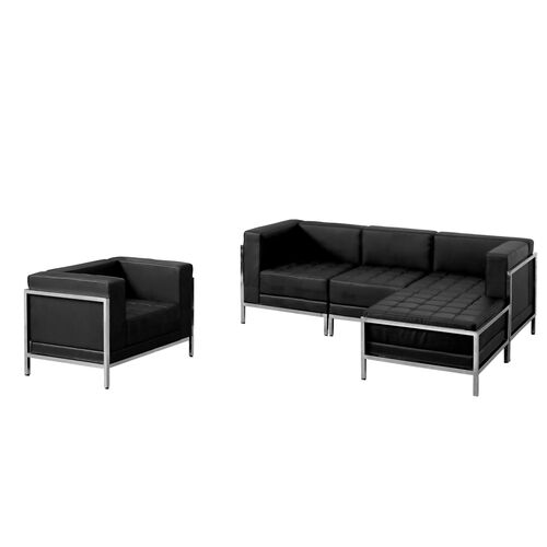 Our HERCULES Imagination Series Black Leather Sectional & Chair, 5 Pieces is on sale now.