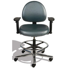 Triton Medium Back Mid-Height Drafting ESD Chair with 350 lb. Capacity - 4 Way Control