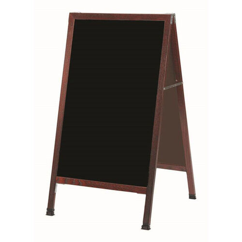 Our A-Frame Sidewalk Black Acrylic Board with Cherry Stained Solid Red Oak Frame - 42