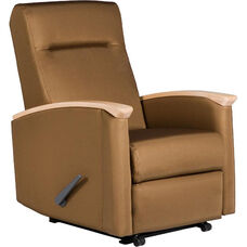 Harmony Non - Medical Room Wall Saver Recliner with Closed Arms - Grade 2 Fabric