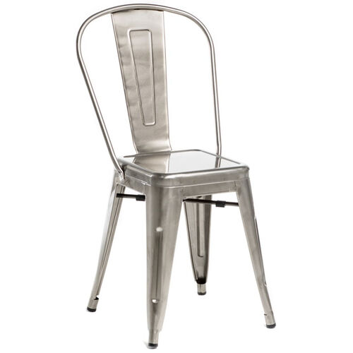 Our Oscar Steel Powder Coated Stackable Armless Chair - Brushed Gun Metal is on sale now.
